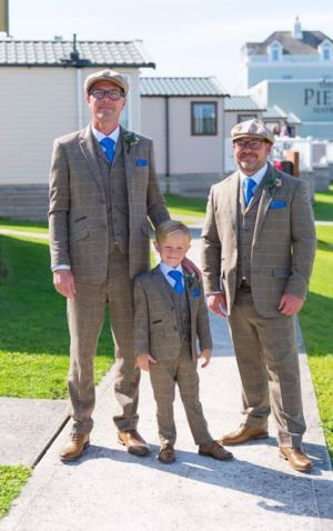 Gary with his Son and best man