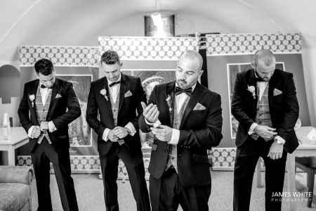 Adam And His Guys In Their Wedding Suits