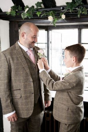 Ben And His Boy In Tweed Wedding Suit