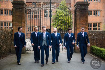 Blue Slim Fit Suits