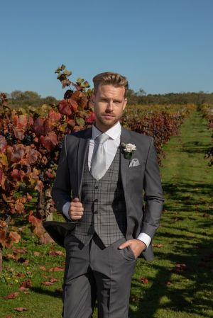 Grey Lounge Hire Suit