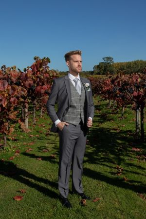 Grey Lounge with Tweed Waistcoat
