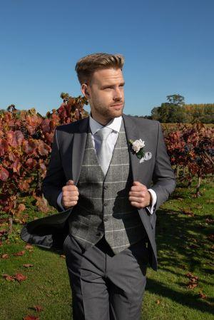 Grey Suit With Tweed Waistcoat