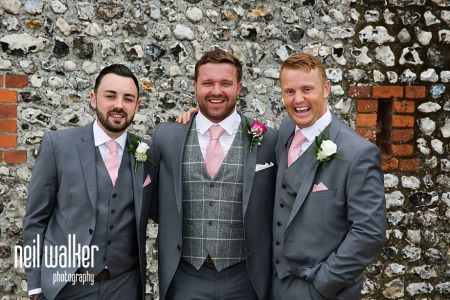 Grey Lounge Suit With Pink