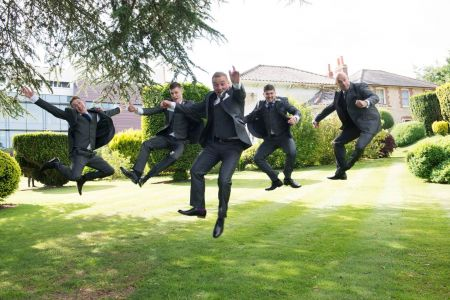 Groom And Guys In Silk Grey Hire
