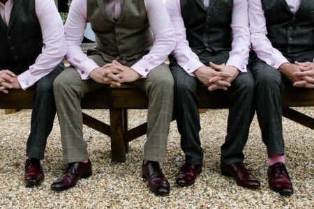 Groom And Groomsmen In Purchase Suits