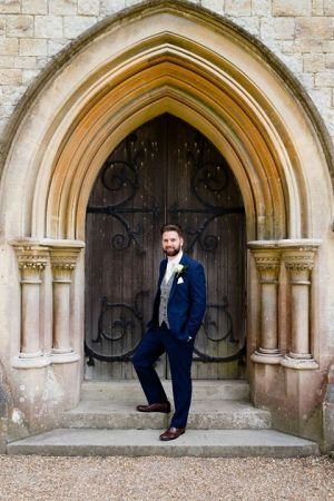 Groom In Slim Fit Blue Hire Wear
