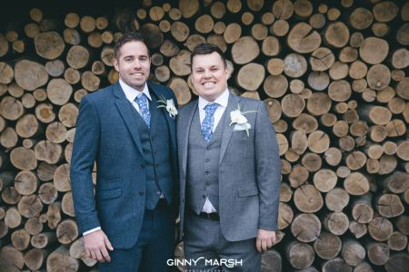 Herbie Frogg Grey With Cavani Blue Wedding Suits
