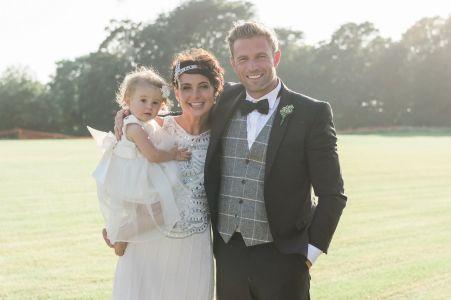 Hire Wear Black Wedding Suit With Tweed Waistcoat