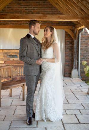 Tweed effect wedding suit