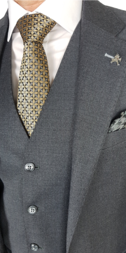 Herbie Frogg 3pc Grey wool Suit`
