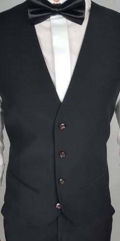 Herbie Frogg Slim Fit Waistcoat Black