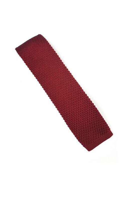 Red Silk Knitted Tie