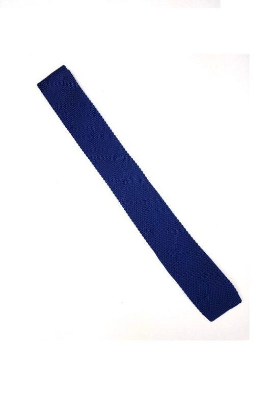 Blue Silk Knitted Tie