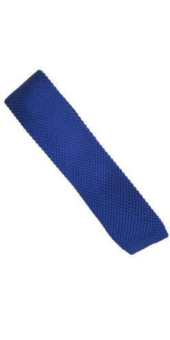 Blue Silk Knitted Tie