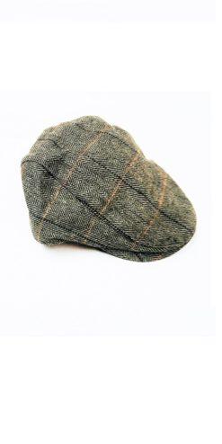 Cavani Albert Grey Tweed Effect Flat Cap