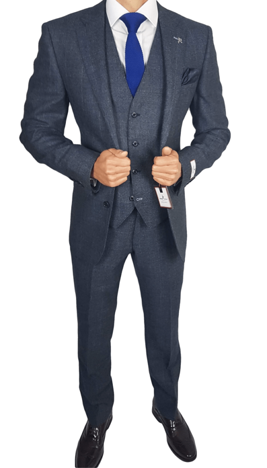 Herbie Frogg 3pc Charcoal Check Suit