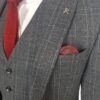 Herbie Frogg 3pc Grey Check Suit