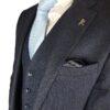 Herbie Frogg 3pc Blue Wool Suit
