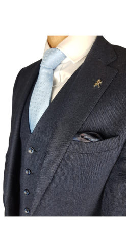 Herbie Frogg 3pc Blue Wool Suit