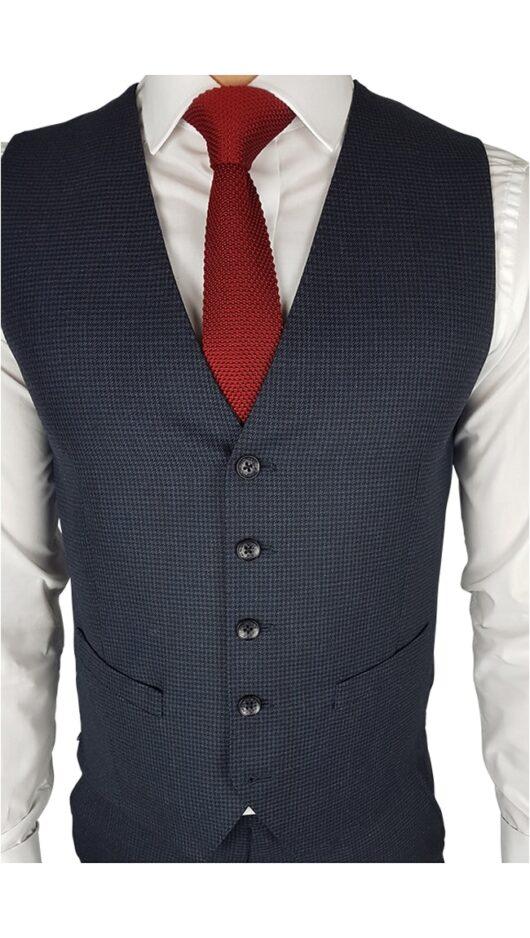 Herbie Frogg 3pc Blue/Black Check Suit