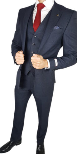 Herbie Frogg 3pc Blue/Black Check Suit