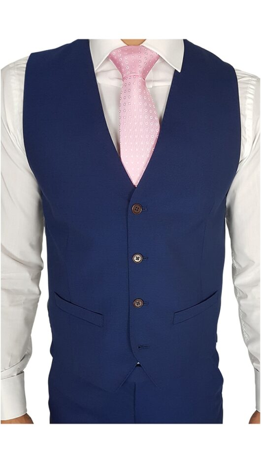 Herbie Frogg Slim Fit Waistcoat Blue