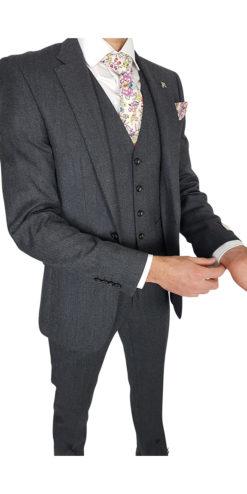 Herbie Frogg 3pc Dark Grey Suit