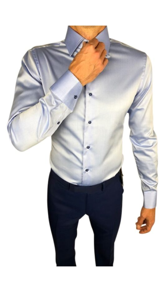 Herbie Frogg Tailored Fit Pale Blue Shirt