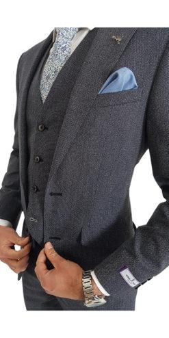 Herbie Frogg 3pc Grey Contrast Suit