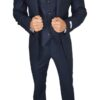 Herbie Frogg 3pc Blue Textured wool Suit