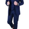 Cavani Jefferson Navy Blue 3pc Suit