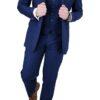 Cavani Jefferson Navy Blue 3pc Suit