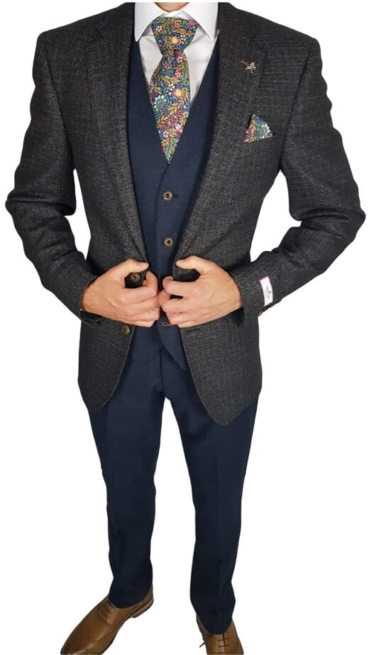 Herbie Frogg 3pc Brown Fleck Jkt Suit