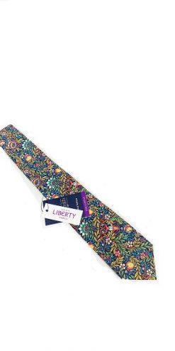 Liberty Turquoise Cotton Tie