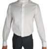 White Slim Fit Standard Collar Shirt