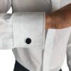 White Slim Fit Standard Collar Shirt