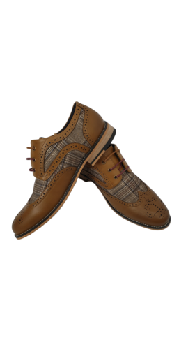 Oslo Cavani Tan Brogue Shoes