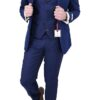 Blue 3 pc Suit with Pattern Jacket
