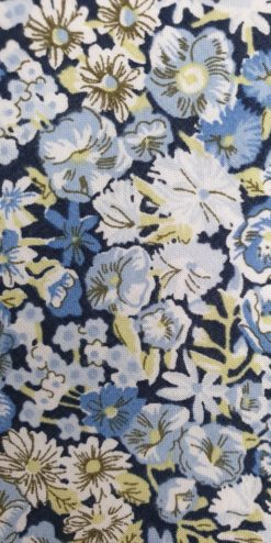 Liberty Blue Chive Cotton Tie and Hankie