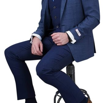 Herbie Frogg 3pc Blue Suit with Textured Jacket