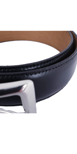Herbie Frogg Black Leather Belt