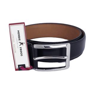 Herbie Frogg Black Leather Belt