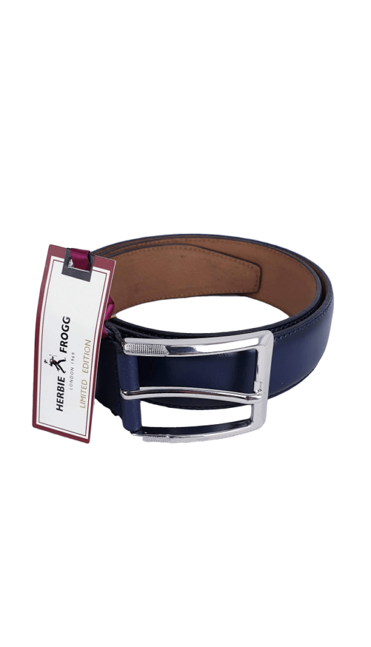 Herbie Frogg Blue Leather Belt