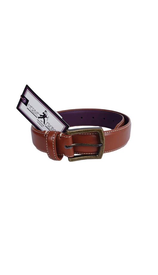 Herbie Frogg Tan Leather Belt