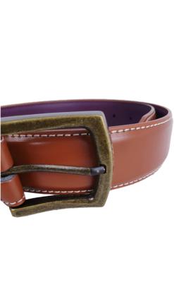 Herbie Frogg Tan Leather Belt