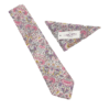 Liberty Lodden Pink Cotton Tie and Hankie
