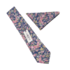 Liberty Tatum Blue Floral Cotton Tie and Hankie
