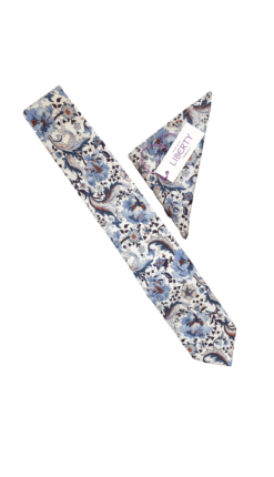Liberty Flora Blue Tie and Hankie