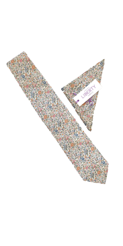 Liberty Katie and Millie Tan Tie and Hankie